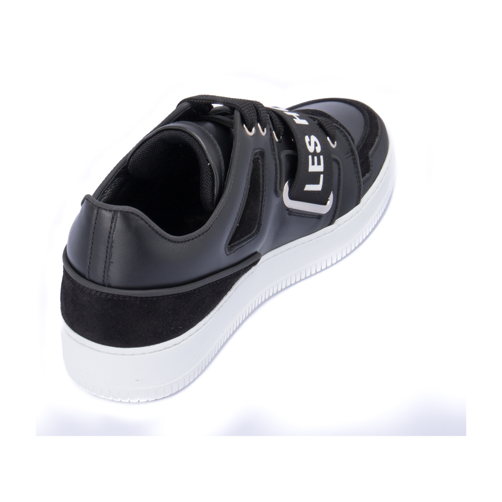 BLACK Sneakers with suede inserts | Les Hommes | Sneakers | Men's shoes