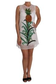 Ananas Sequined Applique klänning