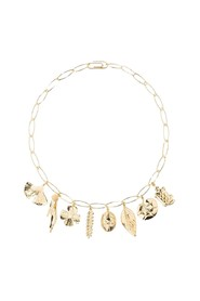 Aurélie chain and charms gold plated necklace