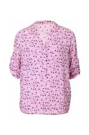 shirt with flowers and elastic in the waistband