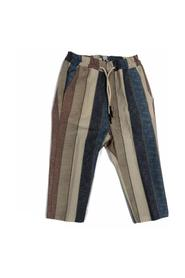 LINEN TROUSERS WITH ELASTIC WAIST BANDS WIDE