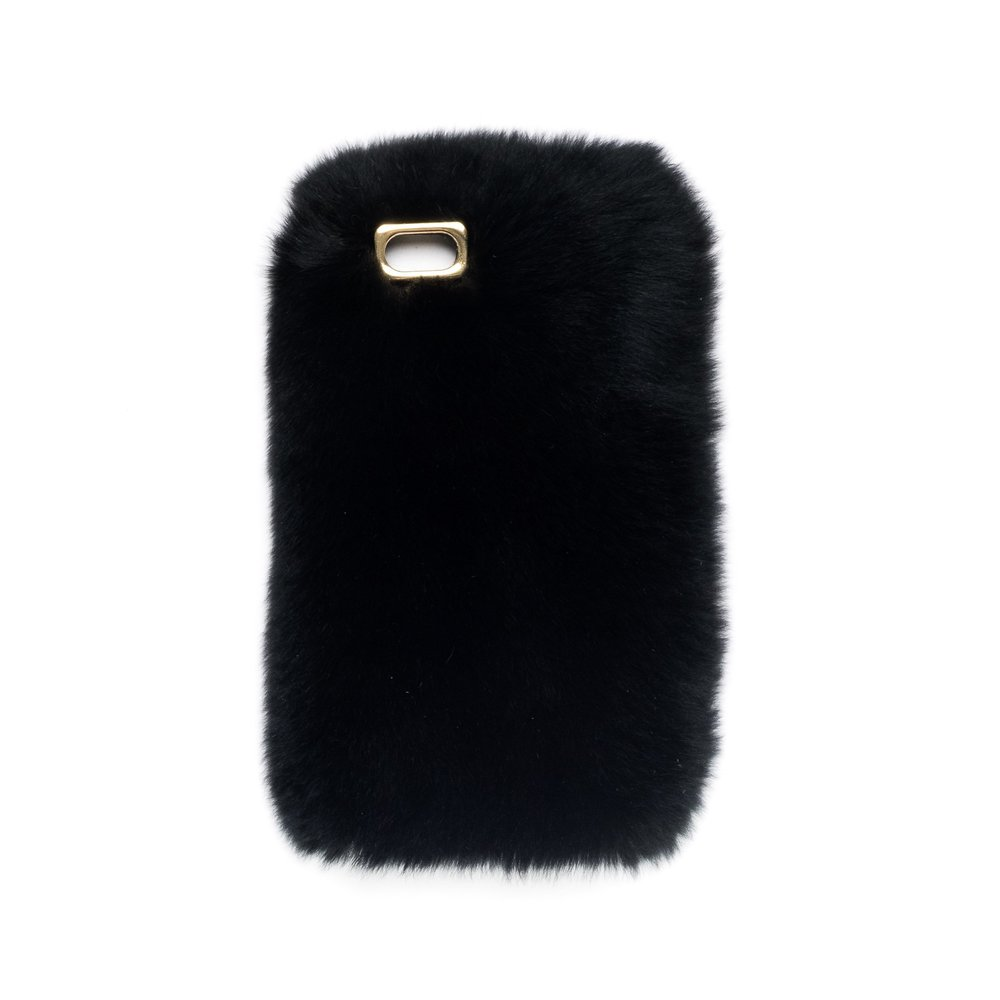 FUR IPHONE COVER BLACK