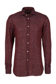 Largely checked shirt