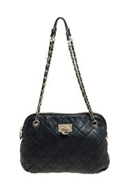 Quilted Leather Dome Shoulder Bag