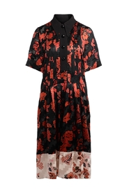 Burch midi dress with red floral pattern