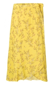 YAYA - Wrap Skirt - Fresh Yellow Dessin