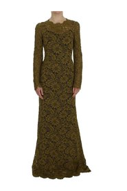 Floral Embroidery Maxi klänning