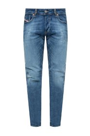 'Sleenker-X' raw-trimmed jeans