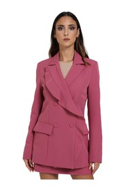SOLID COLOR JACKET WITH SIDE POCKETS