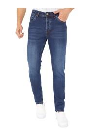 Donkerblauwe Regular Fit Jeans Heren - DP07