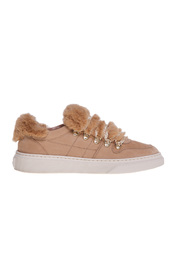 H365 nubuck sneakers with faux fur inserts