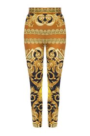 Baroque-printed trousers