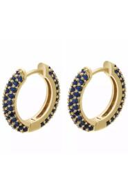 Hoop blue earrings