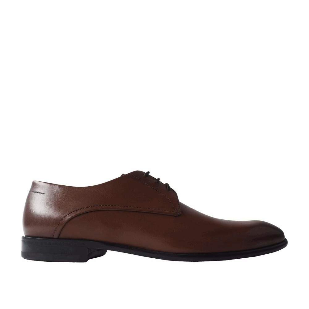 =Polished Leather Oxford Shoes