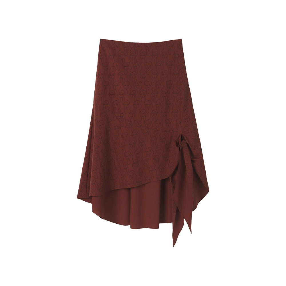 Printed skirt Red Clay BY MALENE BIRGER