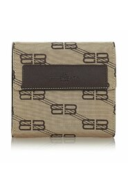 Pre-owned  Tri-fold Canvas Small Wallet