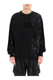 Color dripping effect sweatshirt