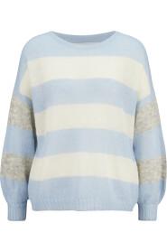 gestreifter Oversized-Pullover aus Mohair