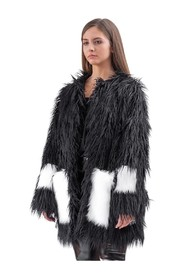 A fluffy coat made of faux fur