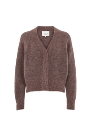 Bordeaux Second Female Brook Knit Boxy Cardigan Genser