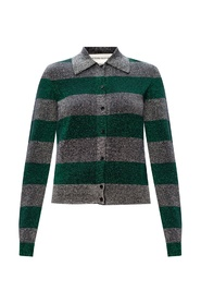 Sweater with metallic effect