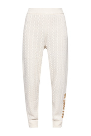 Cable-knit trousers