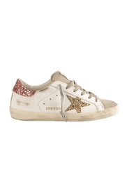 Super Star Sneakers with Glitter Salmon Heel