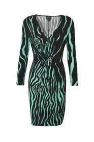 MINT STANDARD DRESS WITH RUFFLED BUCKLE