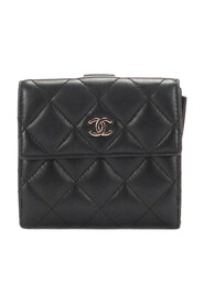 CC Lambskin Leather Small Wallet