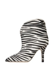 Ankle boots with zebra heel