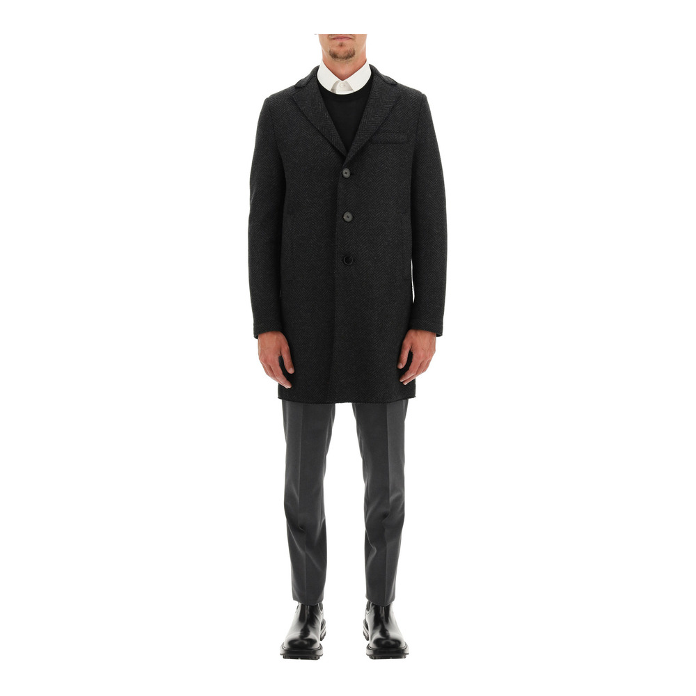 Regular wool and cashmere coat
