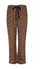 Silk trousers with paisley motif