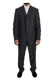 Striped Two Piece 3 Button Wool Suit