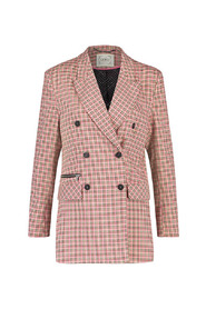 tiny check blazer