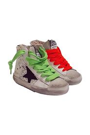 FRANCY SNEAKERS WITH SIDE ZIP AND MULTICOLR LACES