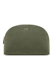 VELVET MAKE-UP POUCH LARGE ARMY