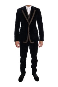 Velvet Two Button Slim 3 Piece Suit