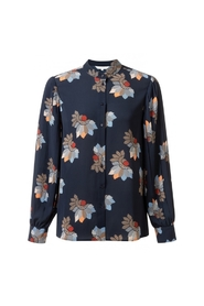 Pleated Shirt With Floral Print