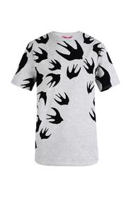 T-shirt with velvet swallows