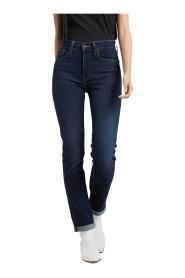 Høy Stige Rette Jeans