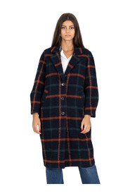Over tartan coat