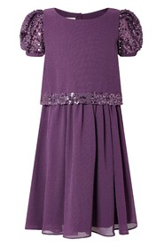 Sequin Sleeve Party Dress