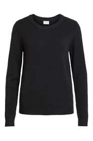 Sort Vila Viril L/S O-Neck Genser