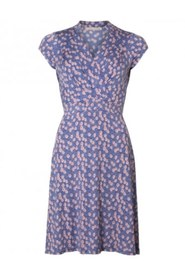 Pauline SS Dress - LIGHT BLUE FLOWER, L
