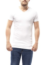 Slater Stretch T-Shirt V-Hals White