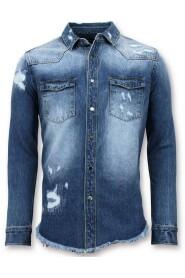Lange Spijkeroverhemd - Denim Blouse