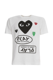 PLAY T-SHIRT BIG HEART AND OPPOSITE PLAY LOGO