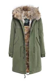 PARKA WITH NATURAL COYOTE FUR