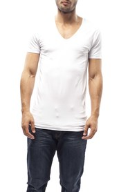 Slater T-Shirt Deep V-neck Stretch White