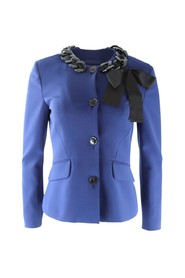 Jacket with Chain Neck Detail